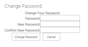 Change Password Webpart
