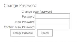 Change Password Webpart