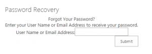 Password Recovery Webpart